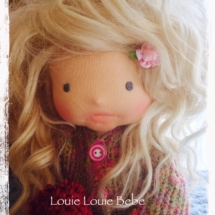 Needle Felted, Sculptured Waldorf doll by Louie Louie Bebe