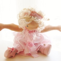 A Pink Ballerina doll by Louie Louie Bebe