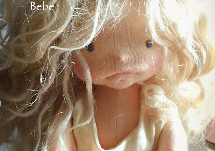 Miss Charlotte, A handmade Louie Louie Bebe Waldorf doll