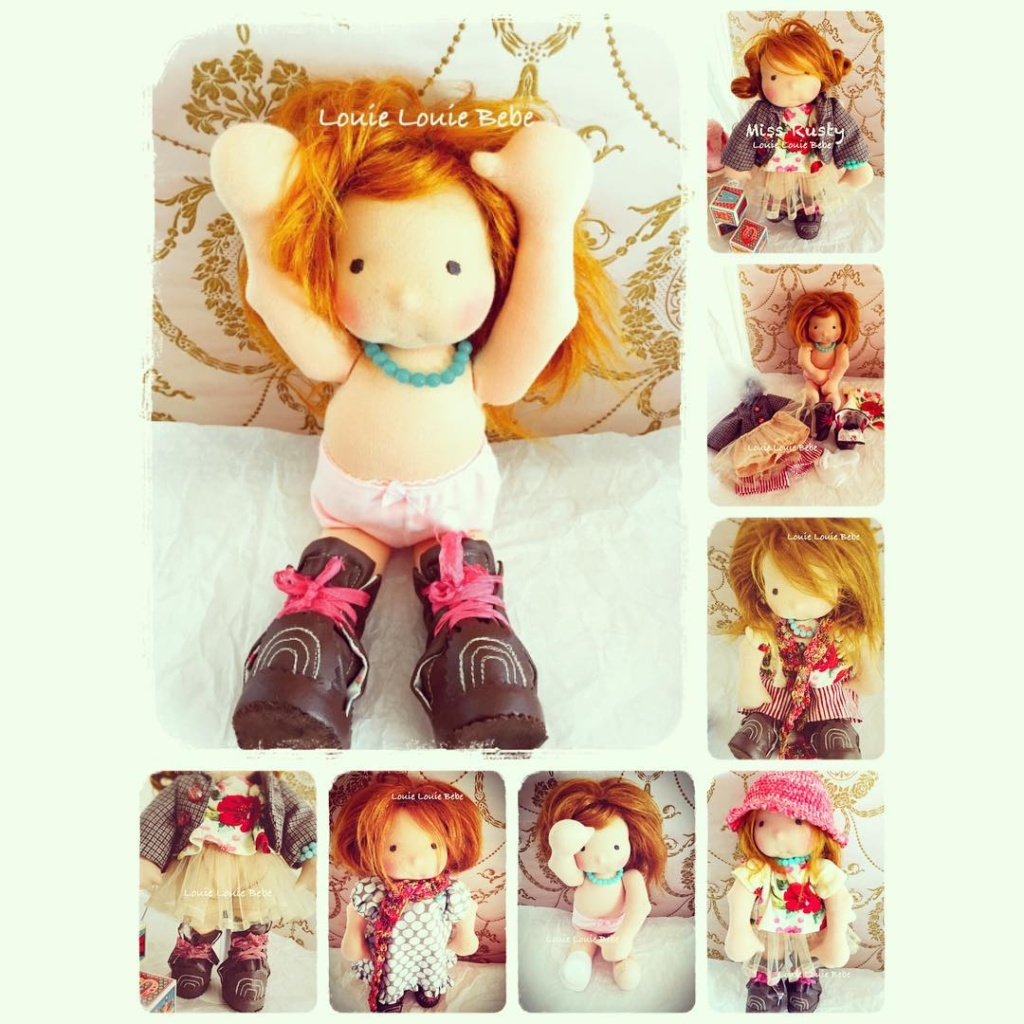 Waldorf doll Miss Rusty by Louie Louie Bebe