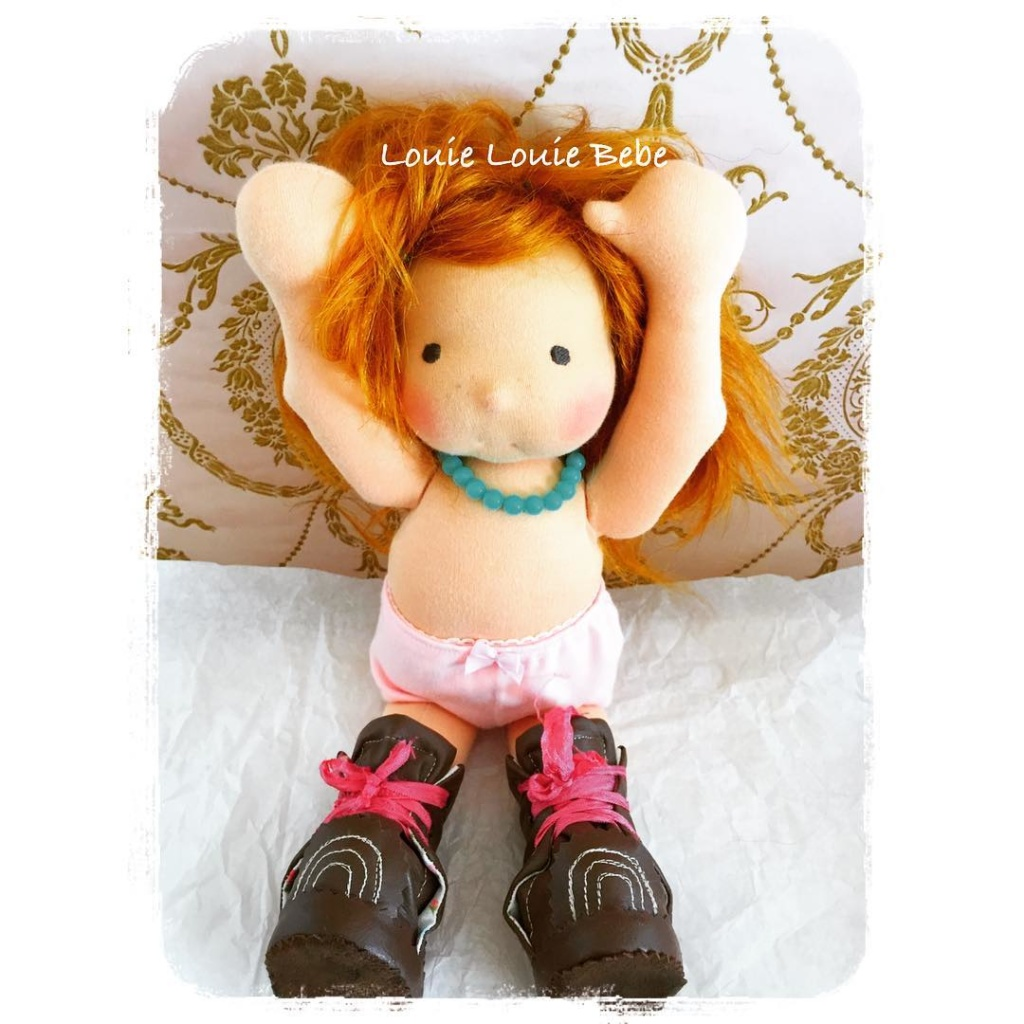 Miss Rusty, Waldorf doll by Louie Louie Bebe