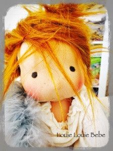 "Miss Rusty, a Waldorf inspired, 13"" Louie Bebe doll will be in my shop in 15 minutes"