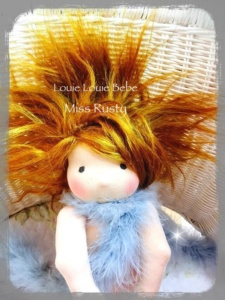 Miss Rusty, a Waldorf inspired Louie Bebe doll