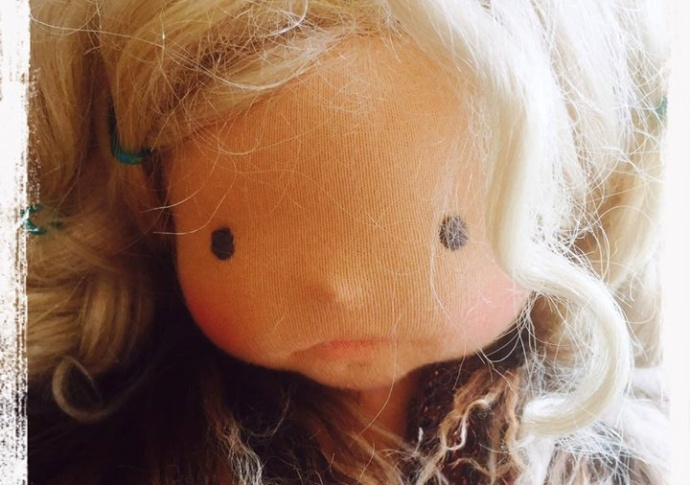 Needle Felted and Sculptured Waldorf doll by Louie Louie Bebe