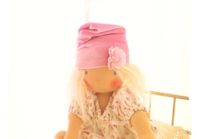 Waldorf doll Apple Blossom, by Louie Louie Bebe