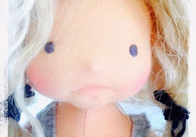 Needle felted Waldorf doll Miss Charlotte, by Louie Louie Bebe