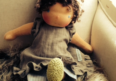 A Traditional Waldorf doll by Louie Louie Bebe