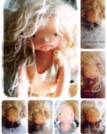 Miss Charlotte, Waldorf inspired Fiber Art doll by Louie Louie Bebe